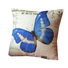 Butterfly Zippered Decorative Throw Pillow Cover Cushion Case 44*44CM