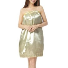High-grade Thin Salon Bathrobe Bath Skirt Strapless Smooth Bathing Dress-A04