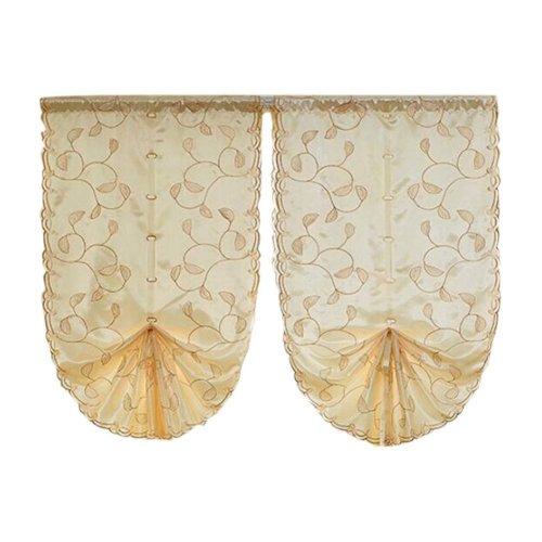 Cafe Curtain Window Valance/Romantic Curtain, Brown(190*80 cm)