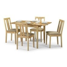 Raffles Compact Extending Dining Set Maple Veneer - Fully Assembled Chairs