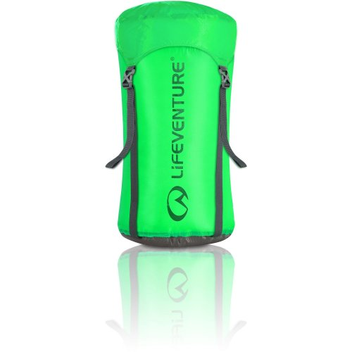 Lifeventure Ultralight Compression Sack - 15 Litres Green