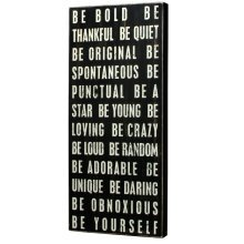 Primitives Large Wall Sign - Be Bold