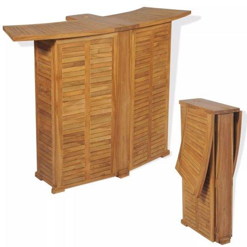 vidaXL Outdoor Bar Table Teak 155x53x105 cm
