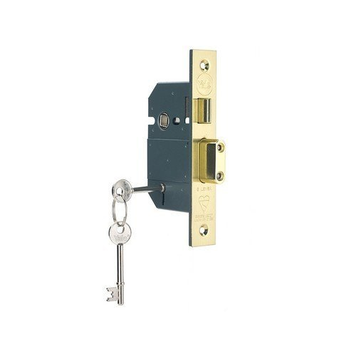 Yale Locks 655600205025 PM560 Hi-Security BS 5 Lever Mortice Sashlock Polish Brass 81mm 3in