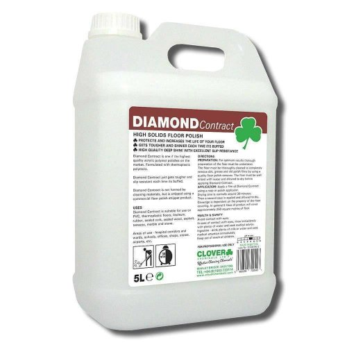 clover Diamond Contract High Solids Wood Floor Emulsion Polish 5L 18%
