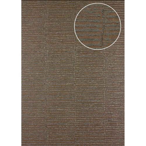 Atlas 24C-5054-3 Stripes wallpaper metallic highlights grey bronze 7.035 sqm