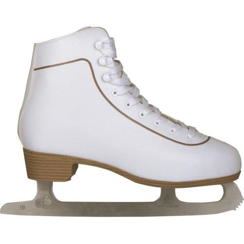 Nijdam Women's Figure Skates Classic Leather Size 37 0043-WIT-37