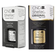 CND Shellac Power Polish Gel UV Base & Top Coat 7.3ml