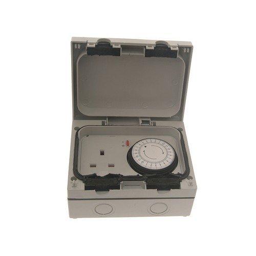 SMJ E61MTB IP66 13A Socket with 24hr Timer 1 Gang