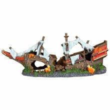 TRIXIE Shipwreck Aquarium Ornament Polyester Resin 87817