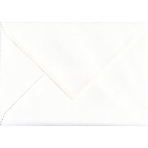 Alabaster White  Gummed C5/A5 Coloured White Envelopes. 110gsm GF Smith Accent Paper. 162mm x 229mm. Banker Style Envelope.