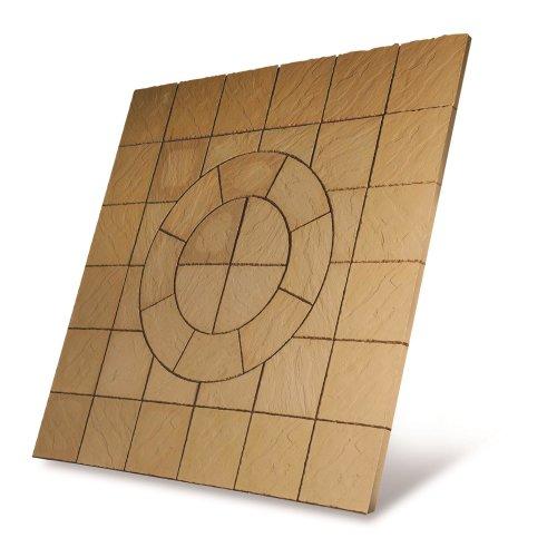 Patio Circle Kit Chalice Paving  2.7 x 2.7m Mellow Gold