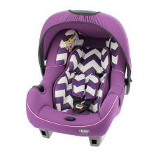 Obaby Group 0+ Infant Car Seat - Zigzag Purple