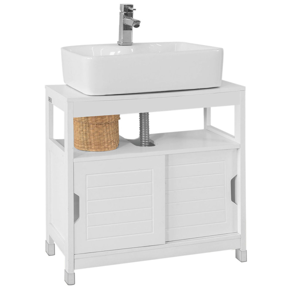 Sobuy frg128 w under sink bathroom storage cabinet - Under sink bathroom storage cabinet ...