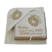 Wooly Organic Hooded Towel Teddy