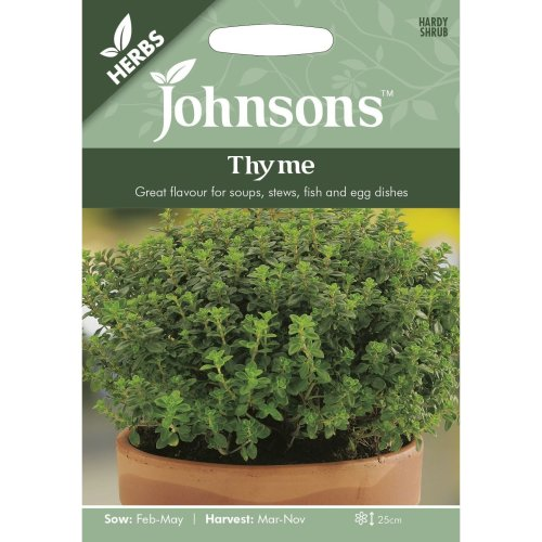 Johnsons Seeds - Pictorial Pack - Herb - Thyme - 1000 Seeds
