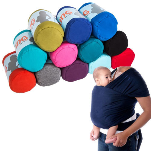 Adjustable Baby Sling Stretchy Wrap Carrier Pouch Infant Birth Breastfeeding