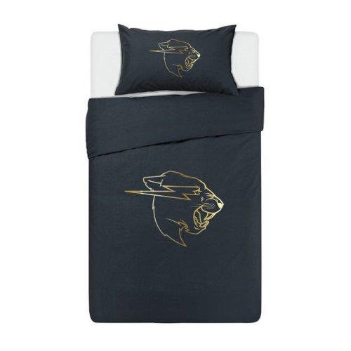 Mr Beast Gold Logo Bedding Set