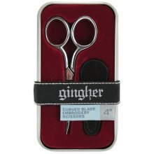 "Gingher Curved Embroidery Scissors 4""-W/Leather Sheath"