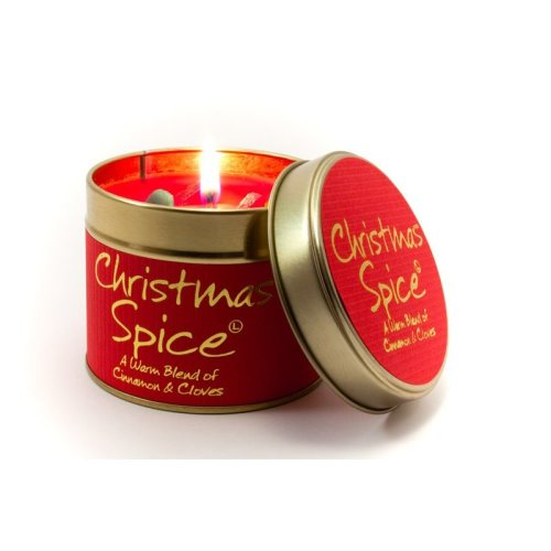 Lily Flame Candle in a Tin - Christmas Spice