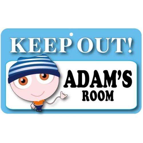 Keep Out Door Sign - Adam's Room