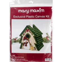 "Mary Maxim Plastic Canvas Tissue Box Kit 5""-Tree (7 Count)"