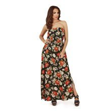 Pistachio, Ladies Bandeau Maxi Dress with Elasticated Bust