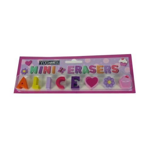 Childrens Mini Erasers - Alice