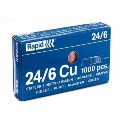Rapid 24/6 Staples - Box of 1000 24mm x 6mm