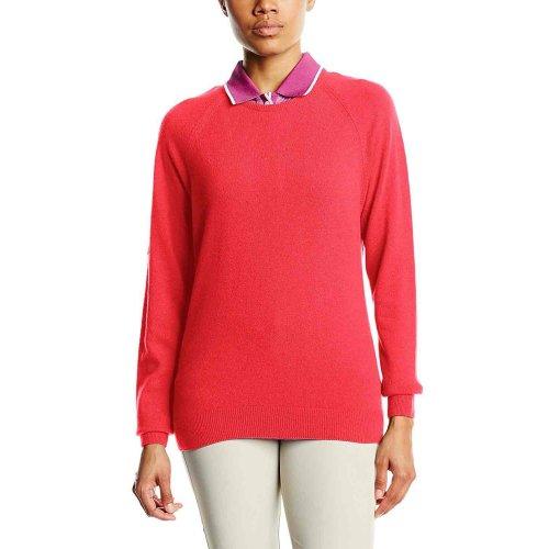ProQuip Golf Julia Ladies Lambswool Sweater Crew Neck Jumper Coral XX-Large