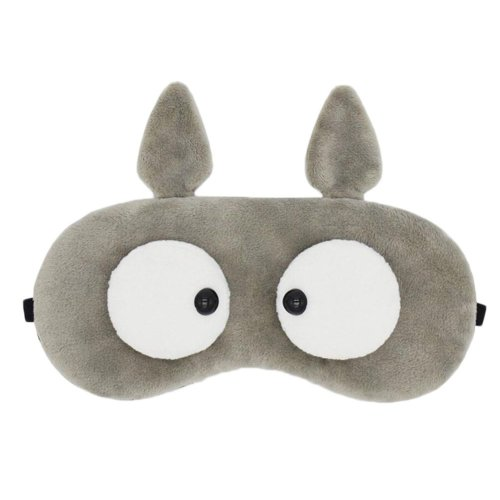 Grey Plush Comfortable Sleep Eye Mask Blocks Out All Light