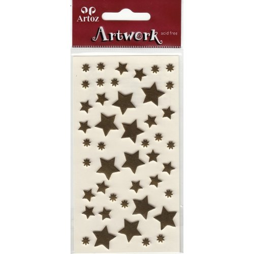 Festive Gold Stars Craft Embellishment By Artoz