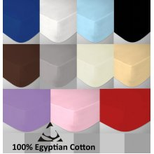 Egyptian Cotton 200 Thread Count Fitted Bed Sheets