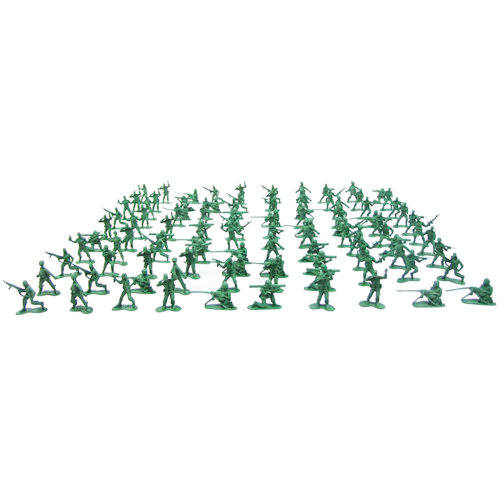 100 Pcs Toy Soldiers Gifts /Cars/Trucks /Tractors/Toy Guns Models -Green   1:60
