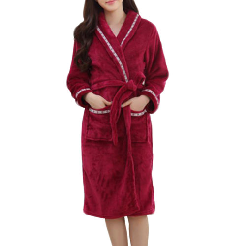 Casual Pajama Set Warm Sleepwear Women/Lovers Flannel Nightgown X-large-A5