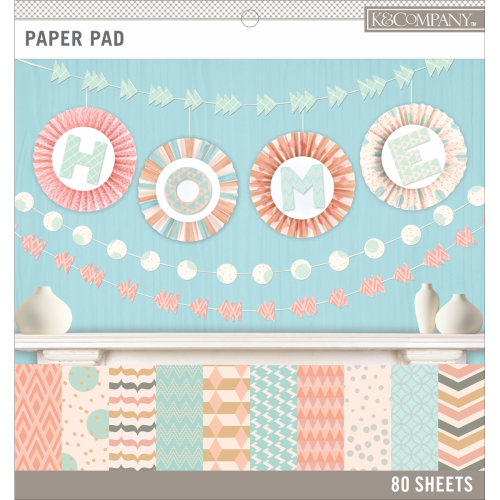 "K&Company Basics Single-Sided 12""X12"" Paper Pad 80/Pkg-Pastels, 20 Designs/4 Each"