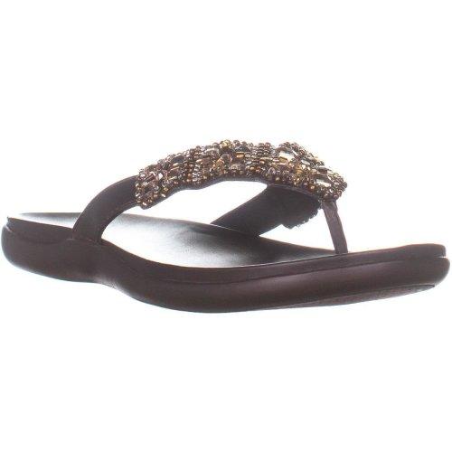 Kenneth Cole REACTION Glam-A-Thon Flip Flop Sandals, Bark, 6 UK