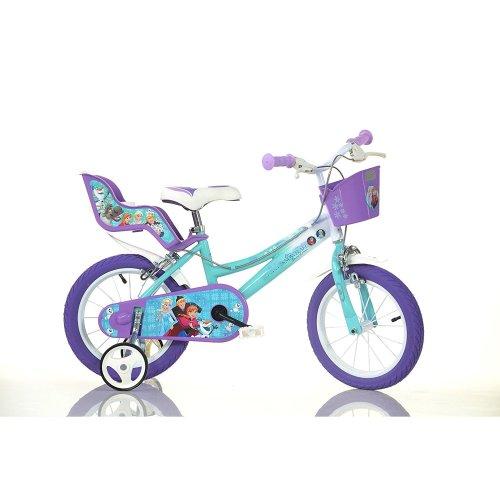 "Dino Disney Frozen Kids Girls Bike with Stabilisers - 16"" Wheels"