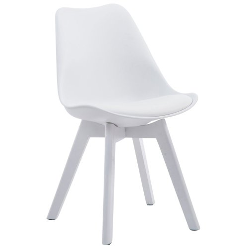 Visitor chair Borneo V2 White leatherette