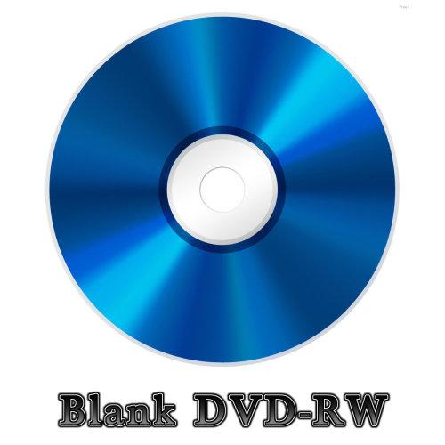 Blank Silver Face DVD-RW Disc (4x 120min 4.7GB) Data/Movie DVD Re-Writable