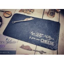 Rectangular Slate Serving Cheese Board - 30x22cm