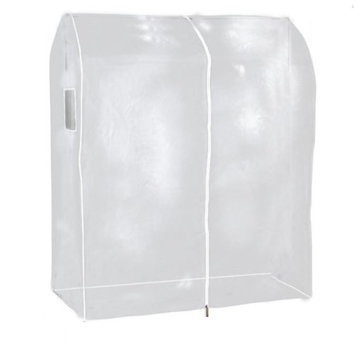 Hangerworld 3ft Clear Clothes Rail Cover Hanging Garment Storage.