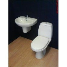 Prestine Basin and Toilet