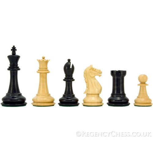 Oxford Series Ebonised Boxwood Chess Pieces 3.75 inches
