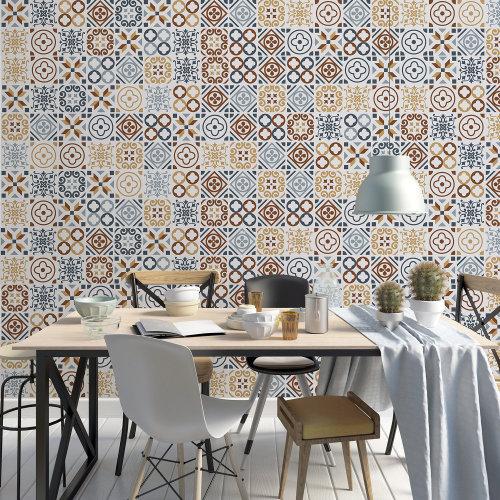 Walplus Tile Azulejo Tiles Wall Sticker Decal (Size: 20m x 20cm @ 12pcs)