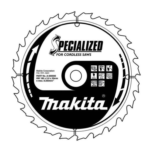 Makita B-57320 TCT Saw Blade 165x56T Efficut Blade for Cordless