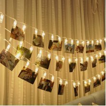 5M 40LED Photo Peg Clip String Light