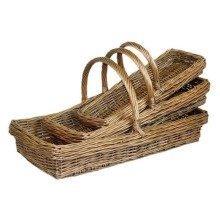 Set of 3 Kew Garden Trug Baskets
