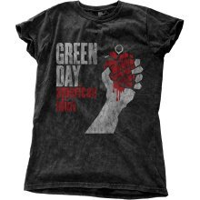 Green Day Women's American Idiot Vintage Black T-shirt