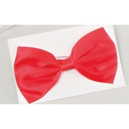 Small Red Men's Dickie Bow Tie -  bow fancy dress tie small red accessories accessory costume dickie wedding kids black prom